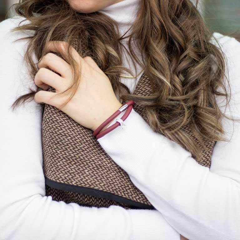 Red Leather 15 Inch Origin Bracelet Td634 15_2