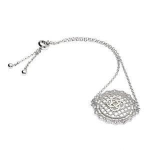rish Lace Silver Celtic Knot Bracelet Sw184