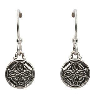 Silver Celtic Cross Earrings Se2228