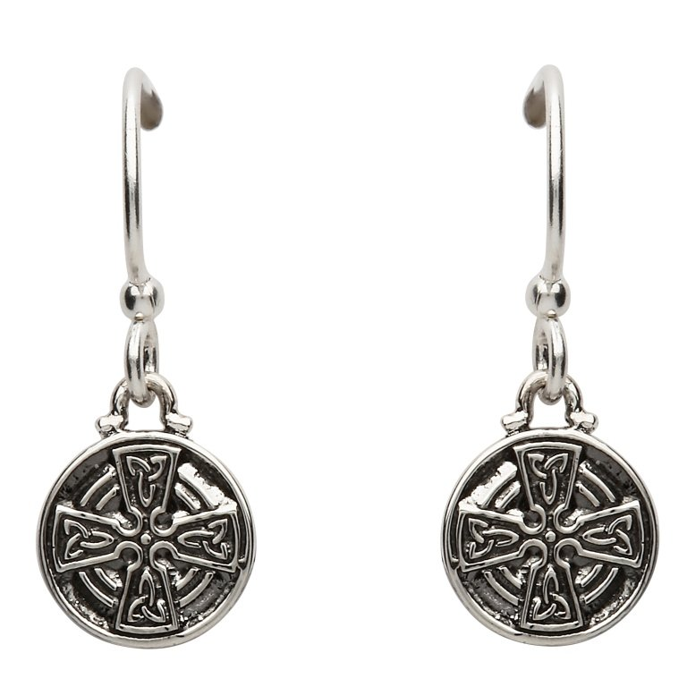Silver Celtic Cross Earrings Se2228