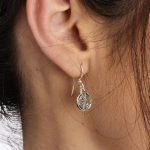 Silver Celtic Cross Earrings Se2228_2 - Gallery Thumbnail Image