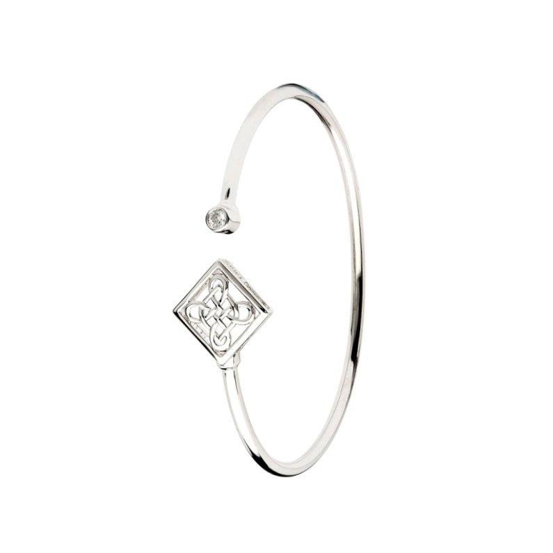 Silver Celtic Design Bangle Td244