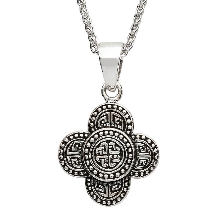 Silver Celtic Tribal Knot Necklace Large Size Sp2213