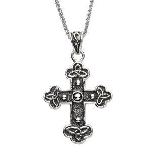 Silver Celtic Trinity Knot Cross Sp2218