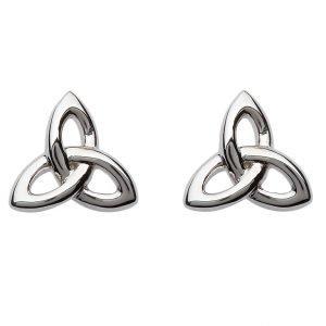 Silver Celtic Trinity Knot Stud Earrings Se2201