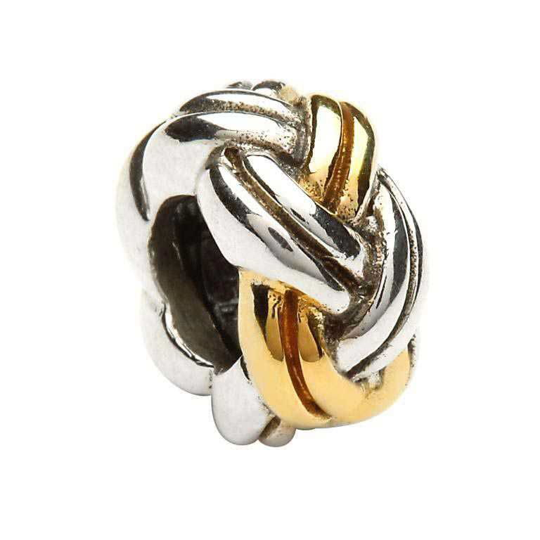 Silver Celtic Weave Bead Td72