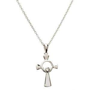 Silver Claddagh Cross Sf23