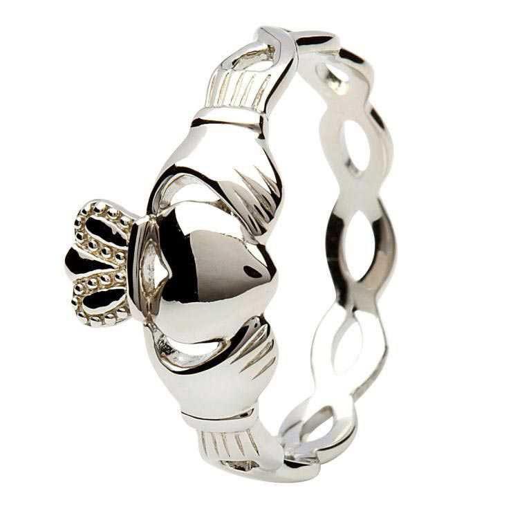 Silver Claddagh Intertwining Design Sl46