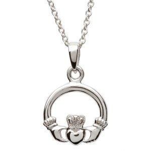 Silver Claddagh Necklace Sp2116