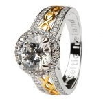 Silver Cz Halo Ring Sl100Cz - Gallery Thumbnail Image