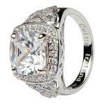Silver Cz Trinity Knot Halo Ring Sl101Cz - Gallery Thumbnail Image