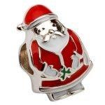 Silver Enamel Santa Bead Td213 - Gallery Thumbnail Image