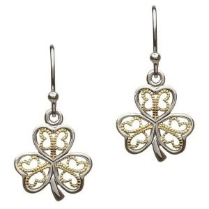 Silver Filigree Shamrock Earrings Se2052