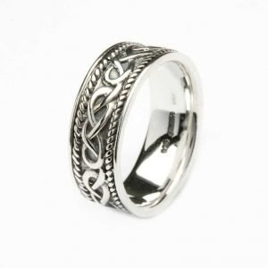 Silver Gents Celtic Design Ring Sd1