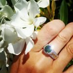 Silver Green Cz Halo Ring Sl100Grcz_3 - Gallery Thumbnail Image