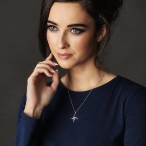 Silver Rose Gold Plated St Brigid Cross Sp2092_2