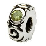 Silver Spiral August Birthstone Bead Td107P - Gallery Thumbnail Image
