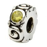 Silver Spiral Birthstone November Bead Td107Tz - Gallery Thumbnail Image