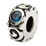 Silver Spiral December Birthstone Bead Td107Bt - Gallery Thumbnail Image
