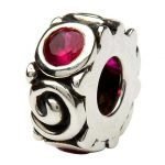 Silver Spiral July Birthstone Bead Td107Rb - Gallery Thumbnail Image