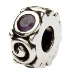Silver Spiral June Birthstone Bead Td107Ax - Gallery Thumbnail Image