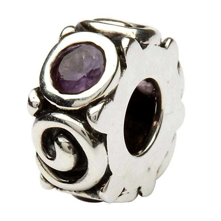 Silver Spiral June Birthstone Bead Td107Ax
