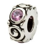 Silver Spiral October Birthstone Bead Td107Pcz - Gallery Thumbnail Image