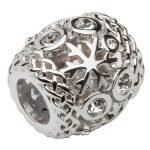 Silver Stone Set Snow Flake Td215 - Gallery Thumbnail Image