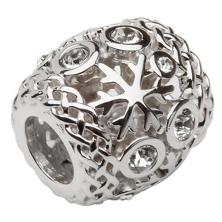 Silver Stone Set Snow Flake Td215