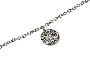 Silver Tree Of Life Trinity Bracelet Sb2107_2