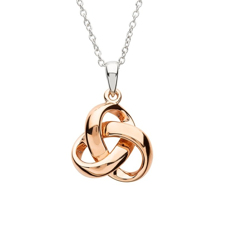 Silver Trinity Rose Gold Plated Pendant Sp2237