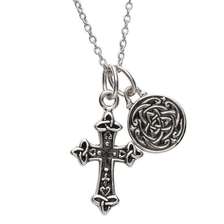 Silver Two Piece Celtic Trinity Pendant Sp2221