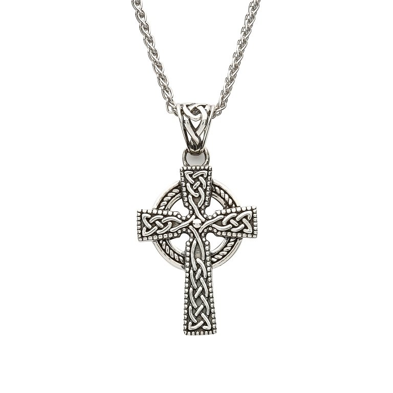 Sterling Silver Celtic Cross With Detailed Intricate Design Sp2240