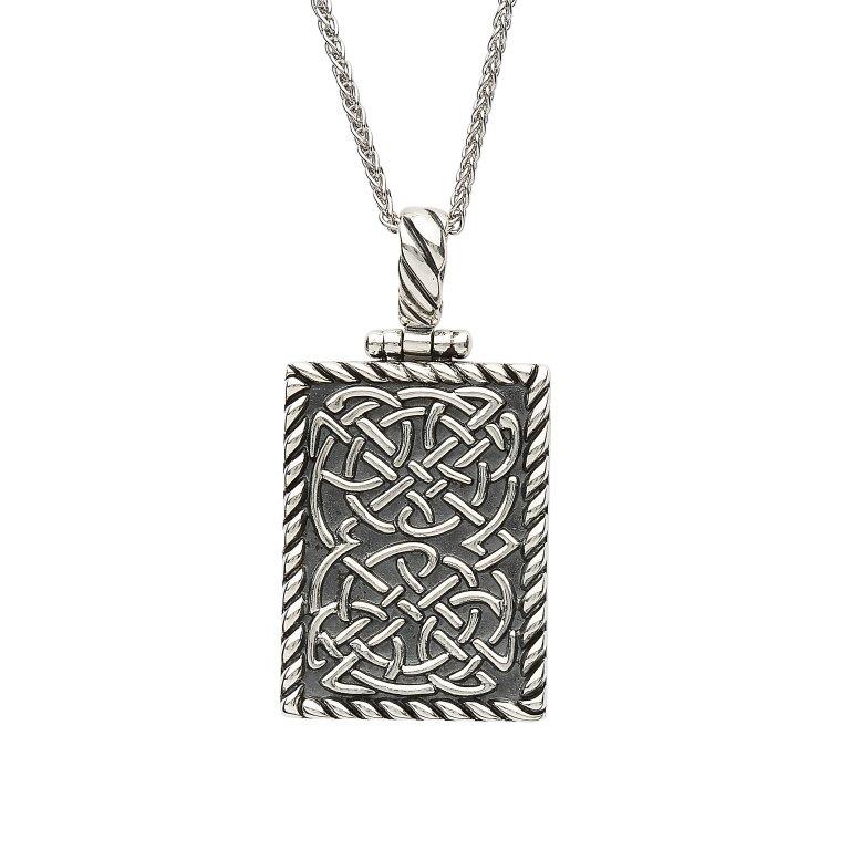 Sterling Silver Celtic Ingot Style Pendant Sp2241