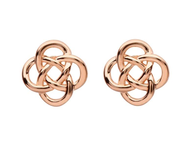 Sterling Silver Celtic Rose Gold Plated Stud Earrings Se2251