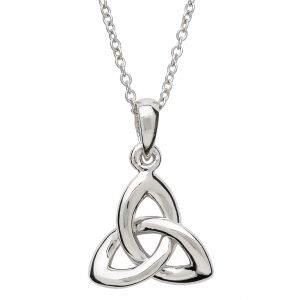 Sterling Silver Celtic Trinity Knot Necklace Sp2200