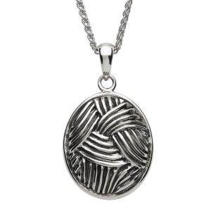 Sterling Silver Celtic Weave Necklace Sp2205