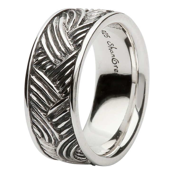 Sterling Silver Celtic Weave Ring Sd22