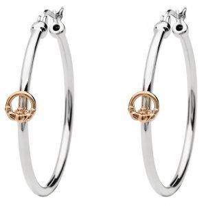 Sterling Silver Claddagh Hoop Earrings Se2256