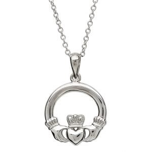 Sterling Silver Claddagh Necklace Sp2117