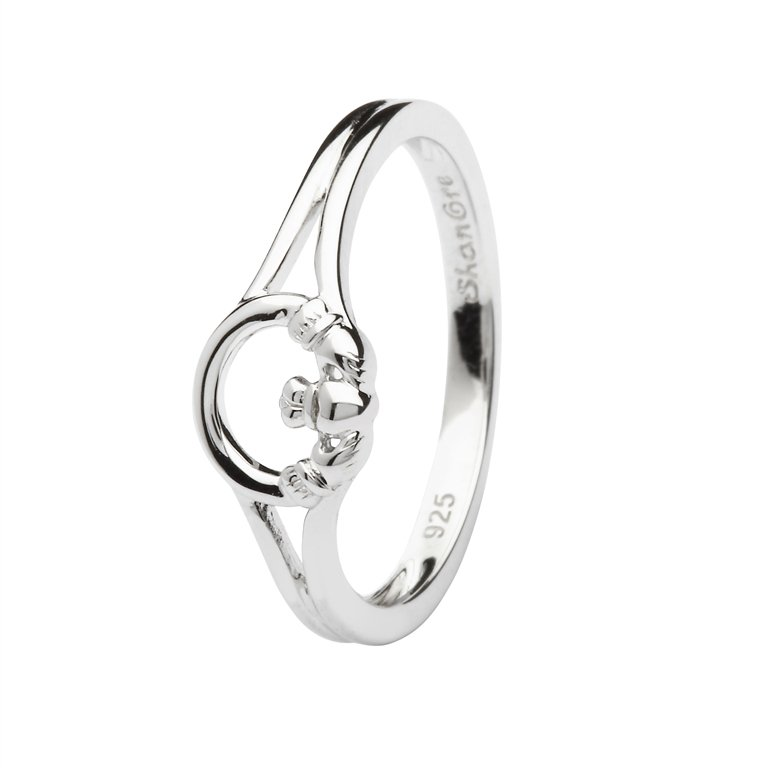 Sterling Silver Claddagh Ring Sl108