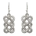 Sterling Silver Fishermans Knot Earrings Se2105 - Gallery Thumbnail Image