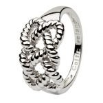 Sterling Silver Fishermans Knot Ring Sd17 - Gallery Thumbnail Image