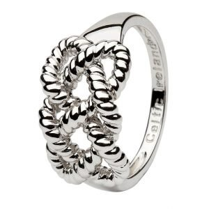 Sterling Silver Fishermans Knot Ring Sd17