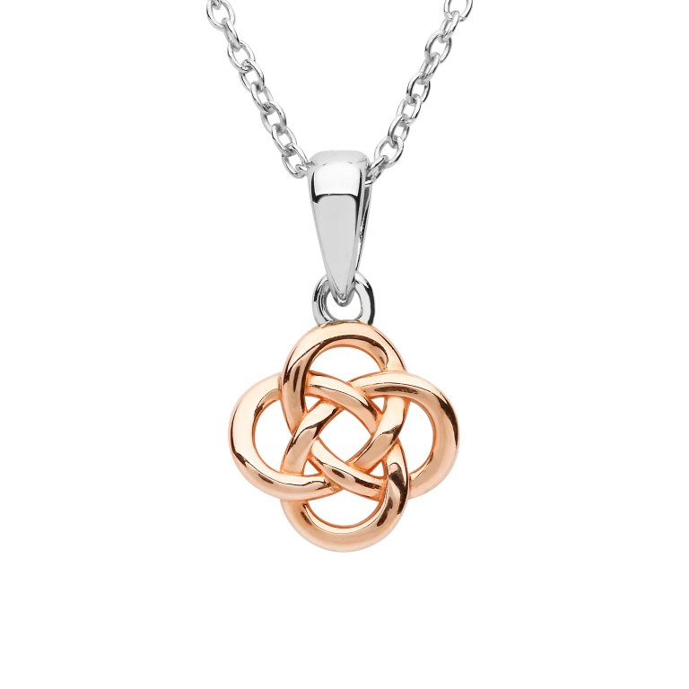 Sterling Silver Rose Gold Plated Celtic Pendant Sp2260