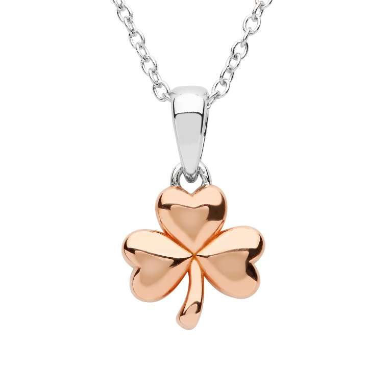 Sterling Silver Rose Gold Plated Pendant Sp2257