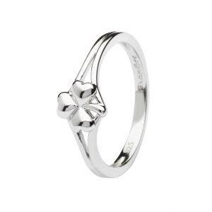 Sterling Silver Shamrock Ring Sl107