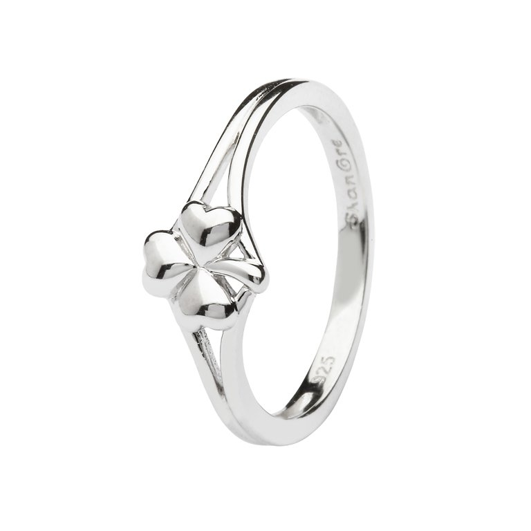 Sterling Silver Shamrock Ring Sl107