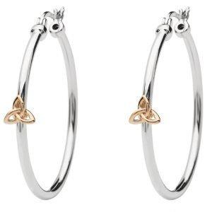 Sterling Silver Trinity Knot Hoop Earrings Se2255