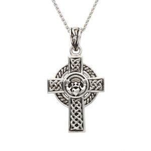 Sterling Silver Unisex Claddagh Celtic Cross Sp2262